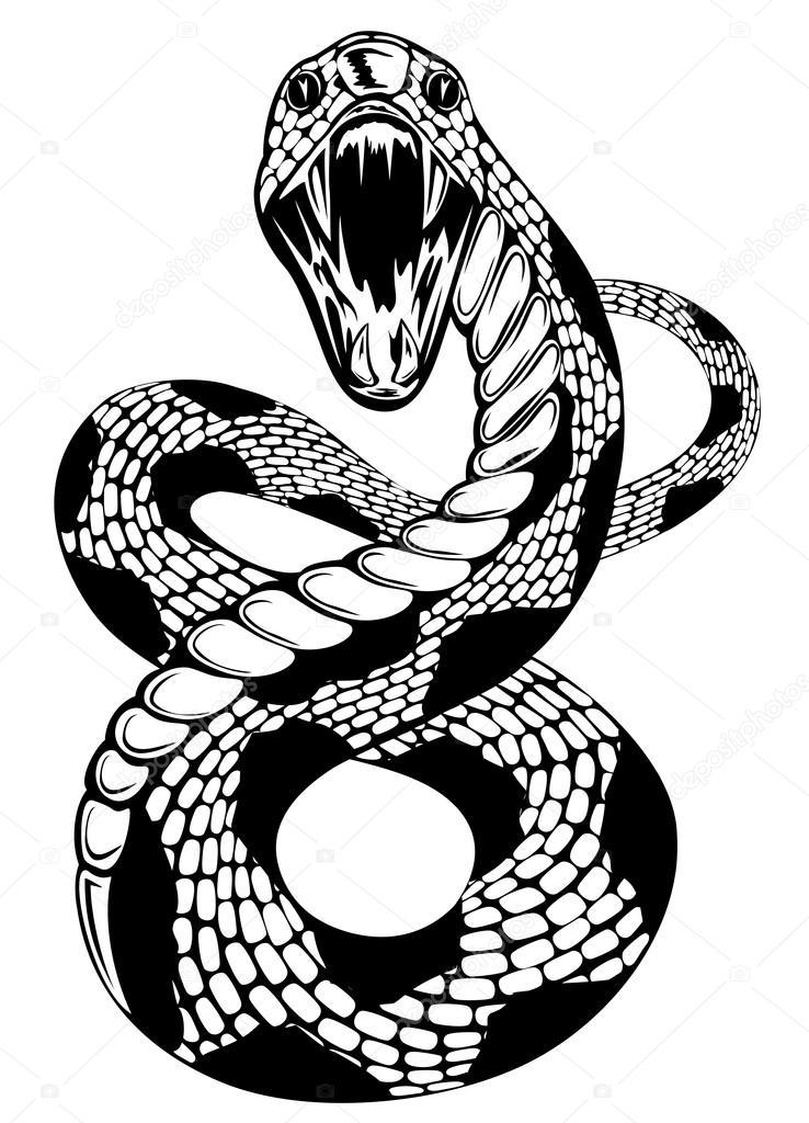 Змея графический рисунок 126