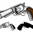 Stock Vector: Revolvers set