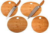 Knife and kitchen board — Stock Photo