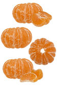 Cleared tangerines — Stock Photo