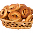 Basket with dry bread-ring — 图库照片 #30675339