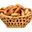 Foto de Stock  : Basket with dry bread-ring
