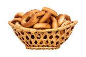 Koš s suchého chleba rin — Stock fotografie