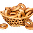 Basket with dry bread-ring — Stockfoto #33166091