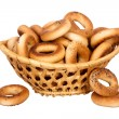 Stockfoto: Basket with dry bread-ring