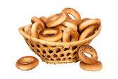 Koš s suchého chleba rin — Stockfoto