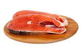 Humpback salmon board — Stock Photo