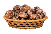 Basket with spice-cakes — Stock Photo