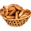 Basket with dry bread-ring — Zdjęcie stockowe #34366455