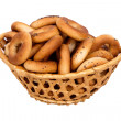 Basket with dry bread-ring — стоковое фото #34366455