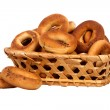 Basket with dry bread-ring — Stock Photo #35100647
