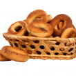 Basket with dry bread-ring — Foto de stock #35100647