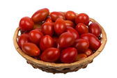 Basket with tomatoes — Stockfoto