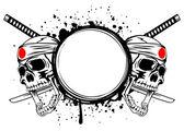 Skull kamikaze — Stock Vector