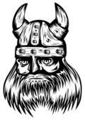 Viking in helmet — Stock Vector