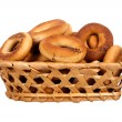 Basket with dry bread-ring — Stock Photo #36650101