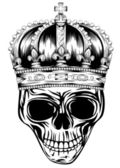 Skull in crown — Vettoriale Stock