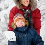 Winter. Parenthood — Stock Photo #10166163