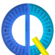 Alphabet rulers and protractors — Stock Photo #26561603