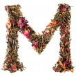 Letter 'M' from herbal tea abc — Stock Photo