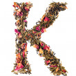 Letter 'K' from herbal tea abc — Stock Photo
