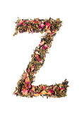 Letter 'Z' from herbal tea abc — Stock Photo