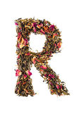 Letter 'R' from herbal tea abc — Stock Photo