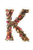 Letter 'K' from herbal tea abc — Foto de Stock