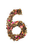 Digit '6' from herbal tea abc — Foto de Stock