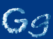 Letter 'G' from clouds alphabet — Foto de Stock
