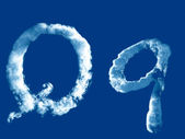 Letter 'Q' from clouds alphabet — Photo
