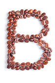 Letter B from coffee beans — Stock Photo
