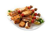 El menú del restaurante los pinchos de carne — Foto de Stock