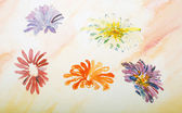 Watercolor painting, flowers — Stock Photo