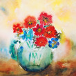 Watercolor flowers - Stockfoto