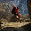 Stock Photo: Hiker resting