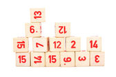 Blocks with numbers — Stock Photo