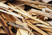 Wood waste — Stockfoto