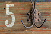 Vintage coat hook — Stock Photo