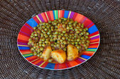 Green peas with tomato sauce — Stock Photo