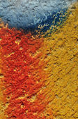 Paint smudged textured wall — Stock Photo