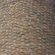 Curved brick wall background — Stockfoto