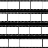 Contact sheet blank film frames — 图库照片