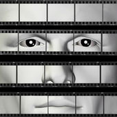 Man portrait filmstrip — Stock Photo