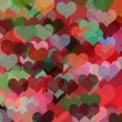 Colorful hearts abstract illustration - 图库照片