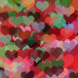 Colorful hearts abstract illustration - Stock Photo