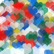 Painted hearts abstract illustration - 图库照片