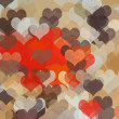 Hearts pattern abstract illustration - 图库照片