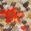 Hearts pattern abstract illustration - Stock Photo