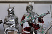 Statues wrapped in plastic — Stockfoto